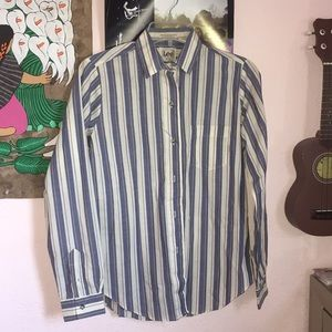 Lee stripped button down